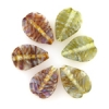 Lamp Bead Leaf 6Pc 22.5x14.5mm Mystery Green